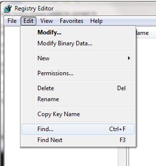 Registry Find